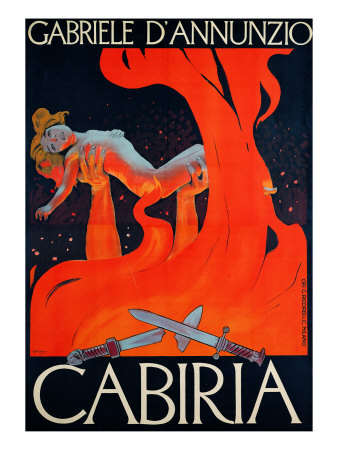 """Film Poster for """"Cabiria"""" Giclee Print by Ippolito Caffi"""