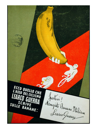"Advertising Poster ""Sportivi! Mangiate Banane Italiane"" Premium Giclee Print by Antonio Mancini"