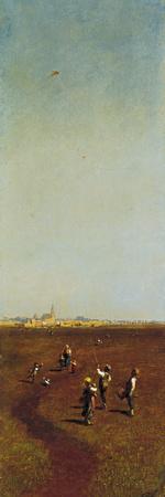 The Kite Giclee Print by Odoardo Borrani