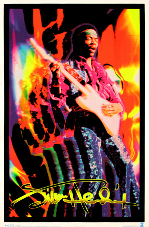 Jimi Hendrix Blacklight Poster