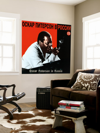 Oscar Peterson In Russia Wall Mural