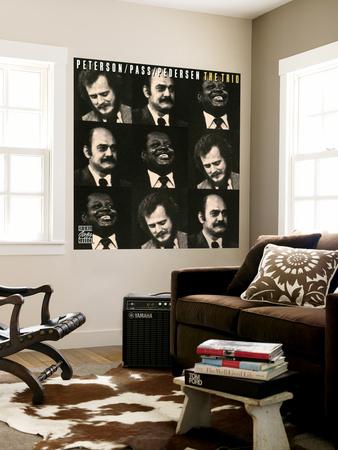 Oscar Peterson, Joe Pass, Niels-Henning Orsted Pedersen - The Trio Wall Mural