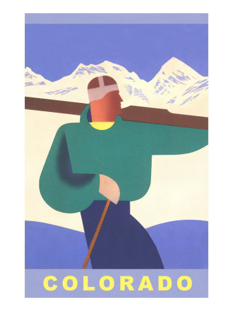 Colorado Ski Print