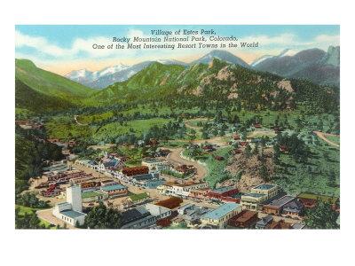 Estes Park Resort Town Poster