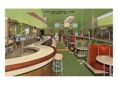 Hotel Clair Cocktail Lounge, Lake Geneva, Wisconsin Prints