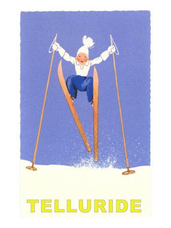 Child Skiing, Telluride, Colorado Posters