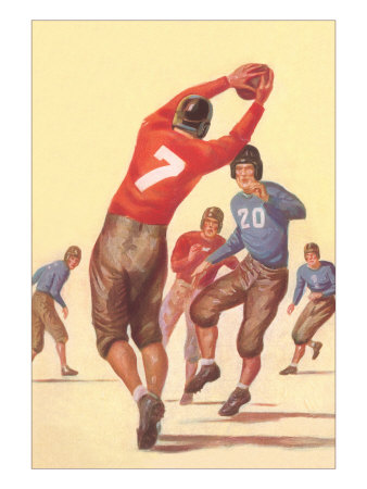 Vintage Football Player Posters