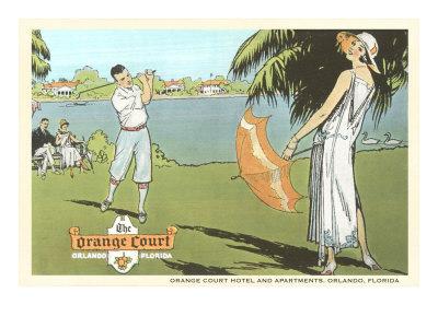 Golfing in Orlando, Florida Posters