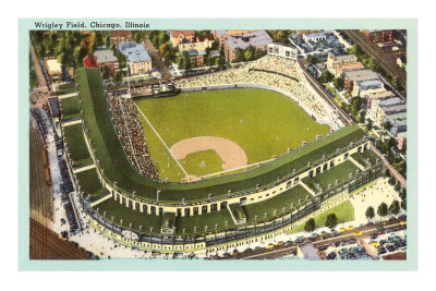 Wrigley Field, Chicago, Illinois Premium Poster