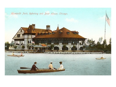 Boat House, Refectory, Humboldt Park, Chicago, Illinois Posters