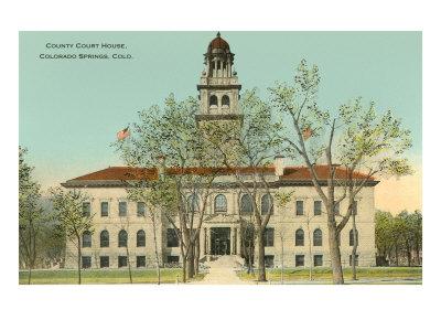County Courthouse, Colorado Springs, Colorado Posters