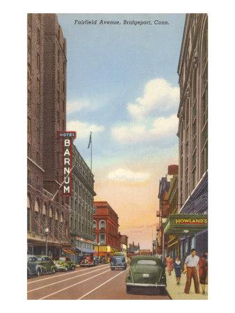 Fairfield Avenue, Bridgeport, Connecticut Print