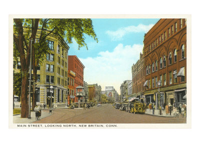 Main Street, New Britain, Connecticut Posters