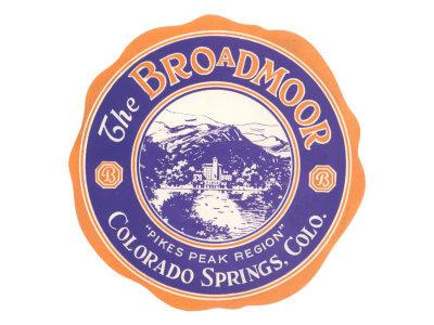 Broadmoor Label, Colorado Springs, Colorado Posters