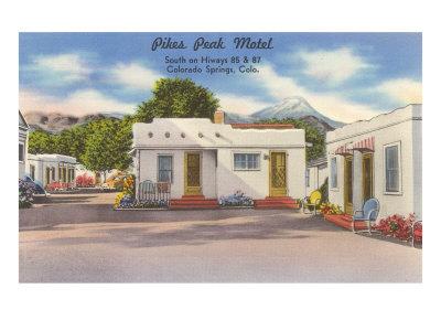 Pike's Peak Motel, Colorado Springs, Colorado Posters