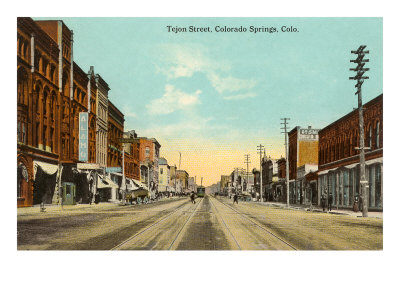 Tejon Street, Colorado Springs, Colorado Posters