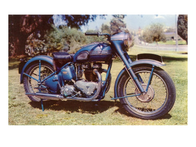 Blue Motorcycle Posters