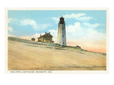 Henlopen Lighthouse, Rehoboth, Delaware Prints