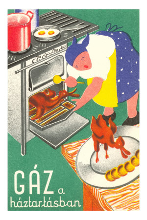 Cooking with Gas Premium Poster