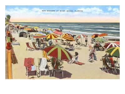 Beach, Miami Beach Florida Posters
