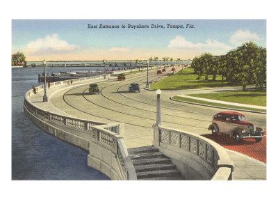 Bayshore Drive, Tampa, Florida Giclee Print