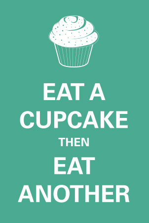 Eat A Cupcake Affiche
