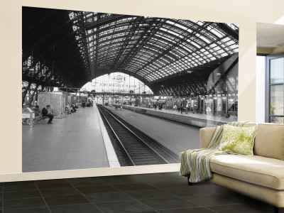 french railway station wallpaper. Train Station, Cologne, Germany Wall Mural