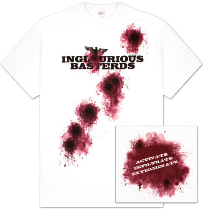 Inglorious Basterds - Logo Bullet Holes T-Shirt