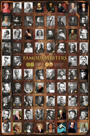 Famous Writers Plakat