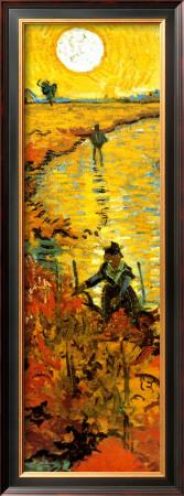 The Red Vineyard at Arles, c.1888 (detail) Print by Vincent van Gogh