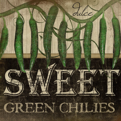 Sweet Green Chilies Art Print