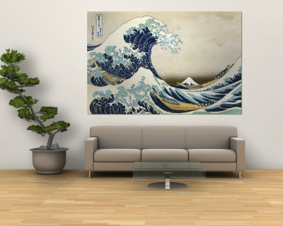 The Great Wave of Kanagawa , c.1829 Vægplakat