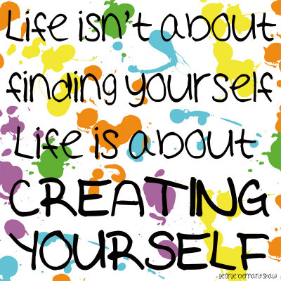 Creating Yourself Kunstdruck