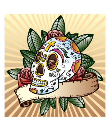 day of dead tattoos. Day Of The Dead Festival Skull