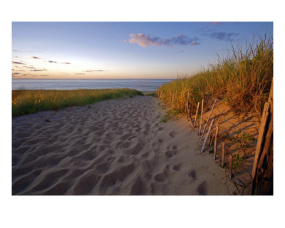 Cape Cod Beach at Sunset, Provincetown, Print
