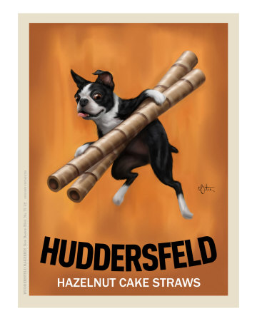 Huddersfeld - Boston Terrier Poster di Chad Otis
