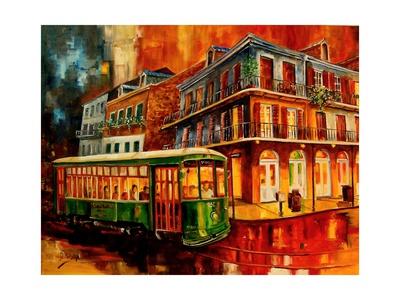 New Orleans Night Streetcar Prints by Diane Millsap