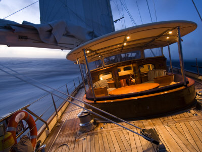 """Sy """"Adele"""", 180 Foot Hoek Design, Evening Sailing Off the Coast of Brazil, February 2007 Photographic Print by Rick Tomlinson"""
