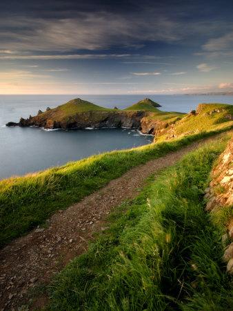 Footpath Along the Rumps, Pentire Point, Near Polzeath, Cornwall, UK Photographic Print by Ross Hoddinott