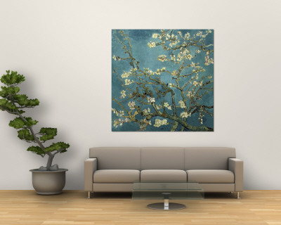 Almond Branches in Bloom, San Remy, c.1890 Wall Mural by Vincent van Gogh