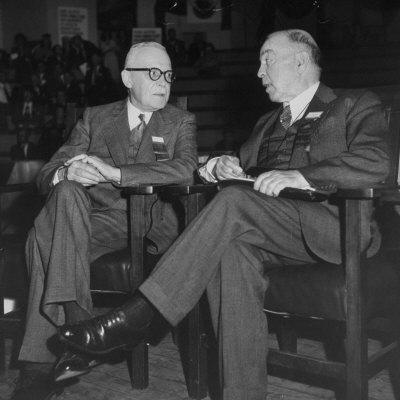 William L. Mackenzie King and Louis St. Laurent at the Canadian ...