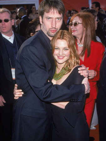 Comedian Tom Green and Actress Drew Barrymore at Academy Awards Premium