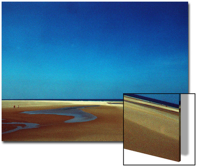 Golden Sand Beach under Cobalt Sky Prints