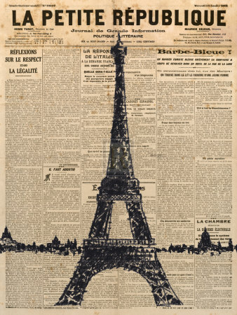 Paris Journal I Poster by Maria Mendez