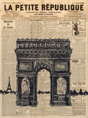Paris Journal II Prints by Maria Mendez
