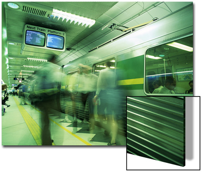 Passengers Boarding Train at Parliament Station in the City of Melbourne, Victoria, Australia Print by Richard Nebesky