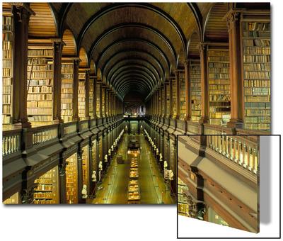 Gallery of the Old Library, Trinity College, Dublin, County Dublin, Eire (Ireland) UMĚNÍ NA AKRYLU
