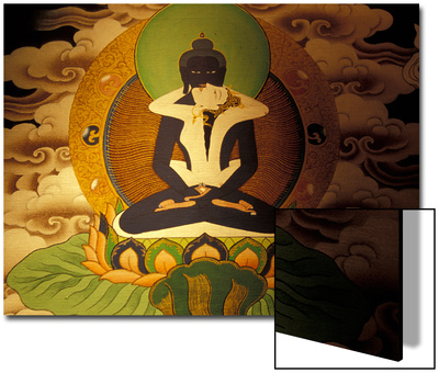 Thanka Painting, Tibet UMĚNÍ NA AKRYLU