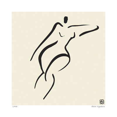 Abstract Female Nude V Limitierte Auflage
