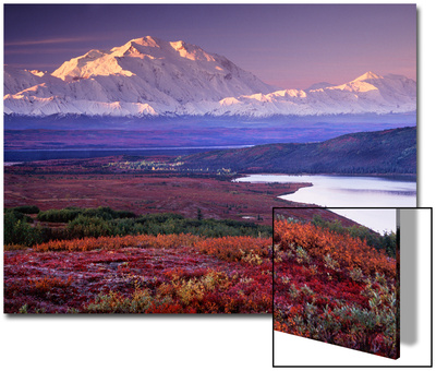 Parque Nacional de Denali cerca de Wonder Lake, Alaska, Estados Unidos Arte en acrílico
